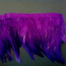 Purple Full Hackle Feather